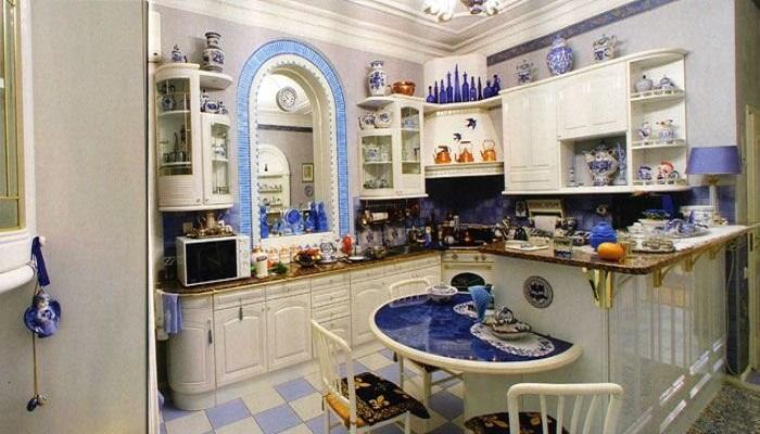 Кухня Ксении Собчак в квартире на Мойке в Санкт-Петербурге. | Фото: bugaga.ru.