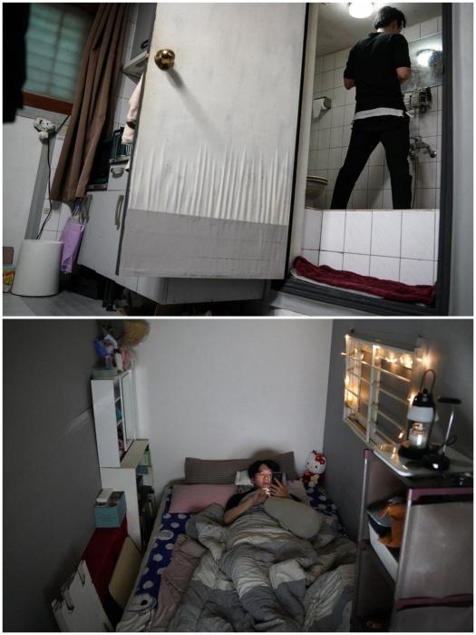 Реальная квартира 31-летнего сеульца О Ки Чхоль, арендующего квартиру в цокольном этаже (Южная Корея). | Фото: bbc.com.