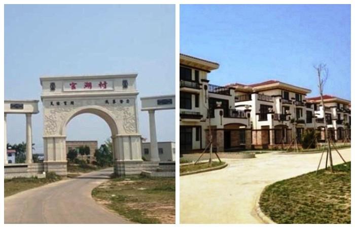 Новый коттеджный поселок с великолепными виллами (Китай).