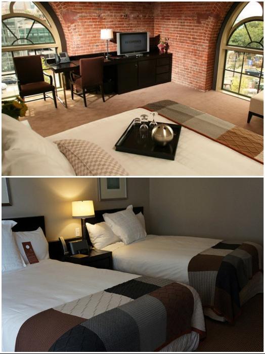 Интерьер самого дешевого и самого дорогого номера-резиденции в необычной гостинице («Liberty», Бостон).   Фото: zen.yandex.ru/irinadob550.