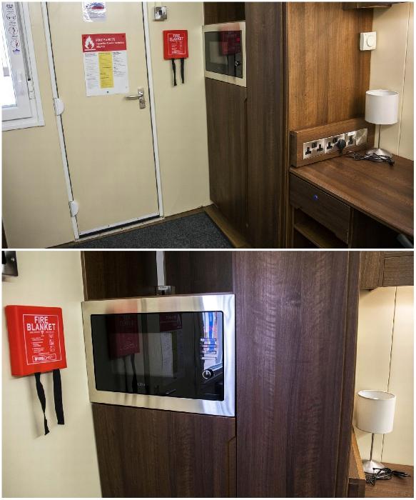 В комнате-студии студенческого общежития установлены микроволновая печь, мини-холодильник и довольно вместительный шкаф (University of Bristol). | Фото: bristolpost.co.uk.