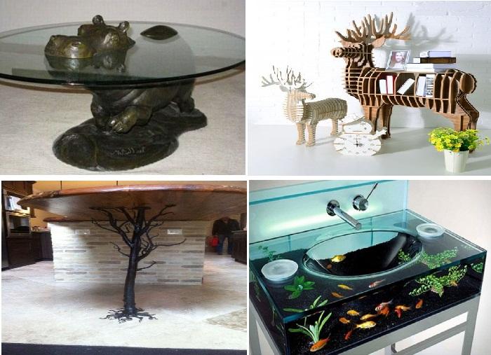 Даже рукомойник, полки и столы сделают вас ближе к природе.