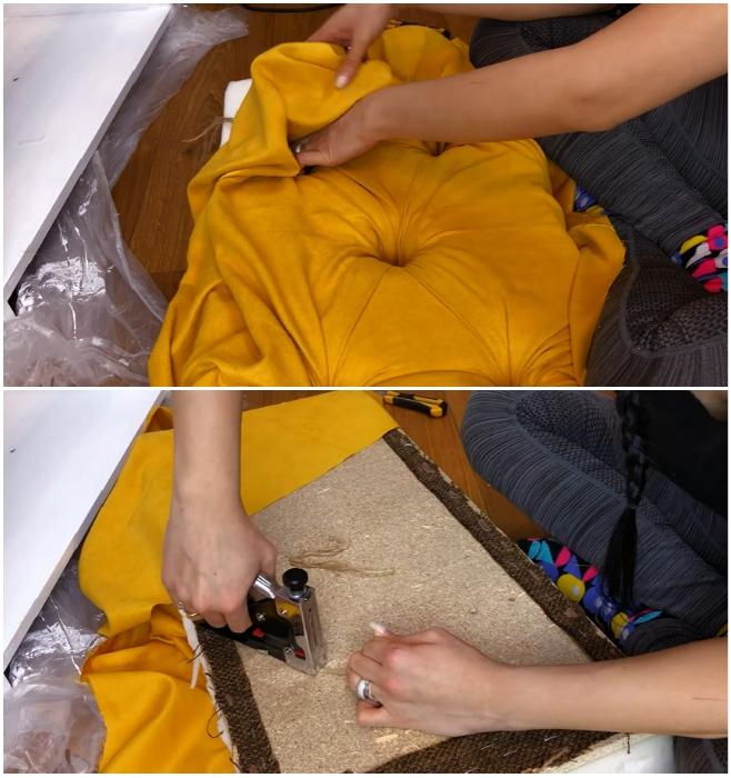 Процесс создания каретной стяжки. | Фото: youtube.com/ © Ko_ milla.