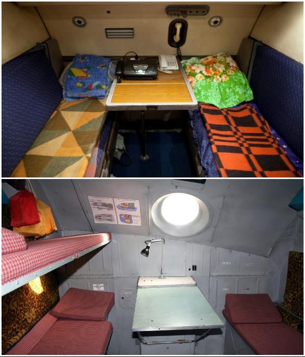 Более суровые и приземленные комнаты у экипажей Ан-22 и Ан-124. | Фото: frequentflyers.ru.