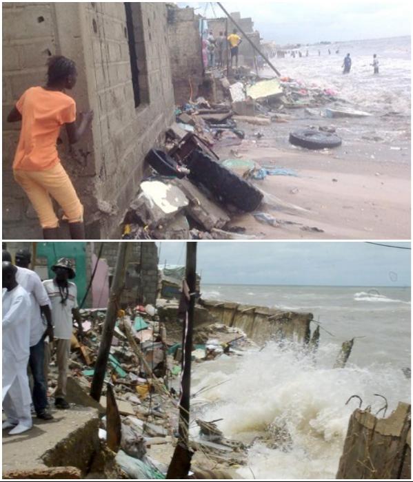 Угроза наводнения прибрежных районов возрастает с каждым днем (Saint Louis, Сенегал). | Фото: chroniques.sn/ news.africahotnews.com.