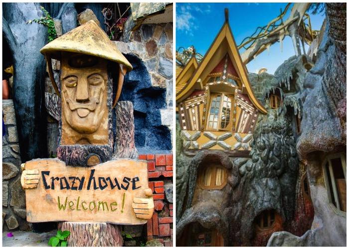 Гостиничный комплекс принимает не только постояльцев, но и туристов, которые приезжают сюда на экскурсию (Crazy House, Вьетнам).