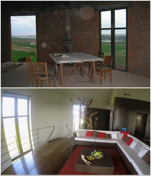За 80 лет существования водонапорная башня поизносилась («Chateau d'Eau», Steenokkerzeel). | Фото: youtube.com/ © Kirsten Dirksen.