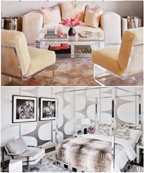 В доме много мягкого текстиля, пушистых ковров и винтажной мебели. | Фото: instagram.com/ kyliejenner.