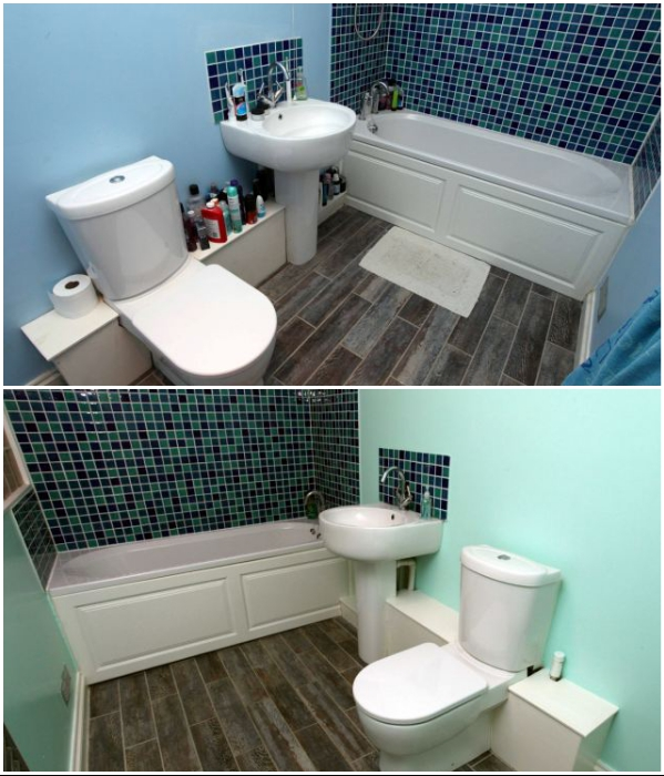 В бункере обустроили две ванных комнаты. | Фото: dailymail.co.uk.