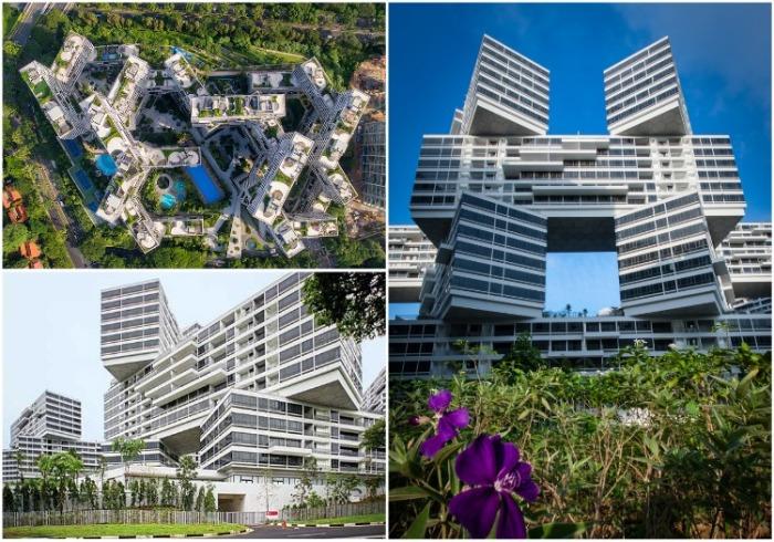 В проекте были предусмотрены все необходимые мероприятия, обеспечивающие экологическую безопасность (ЖК «Interlace», Сингапур). | Фото: worldlandscapearchitect.com.