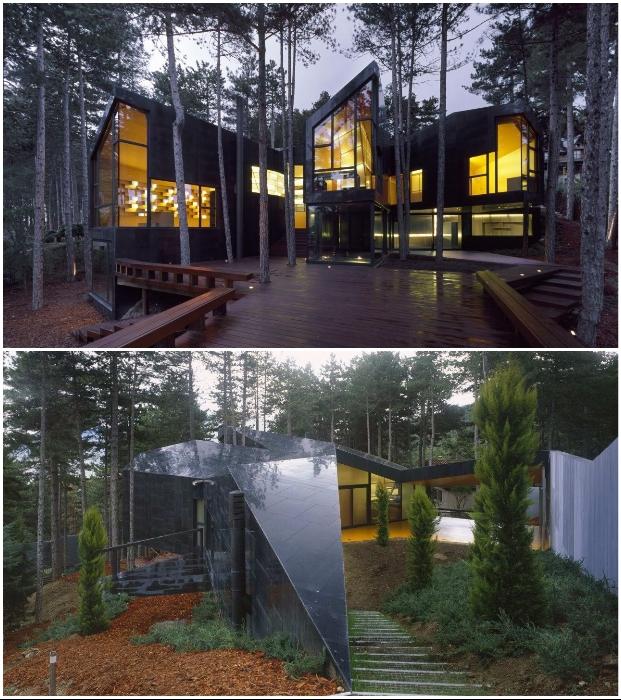 Casa Levene – лесной дом уважающий природу (Сан-Лоренсо де Эль Эскориале, Испания).