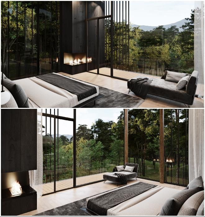 Особенно впечатляющим окажется расположение главной спальной комнаты (концепт Sylvan Rock).