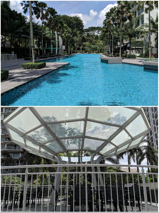 Общие зоны отдыха на территории жилого комплекса «Tree House» (Сингапур). | Фото: stackedhomes.com.