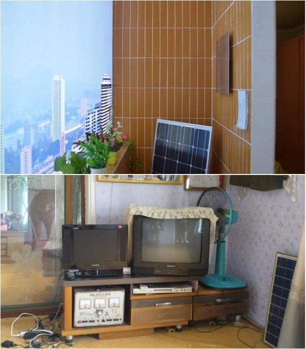 В каждой квартире есть солнечные батареи и аппараты бесперебойного питания. | Фото: vihrogon.bg.
