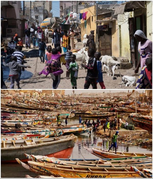 Народ, оставшийся без крова и работы, перебивается как может (Saint Louis, Сенегал). | Фото: bigpicture.ru.