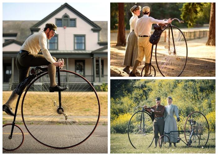 Раритетные велосипеды викторианской эпохи являются особой гордостью Габриэля.