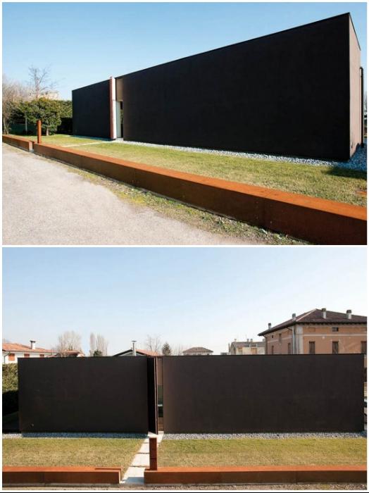 Интригующий особняк-забор был создан архбюро Archiplan Studio (Private Residence).   Фото: kanzas.ua.