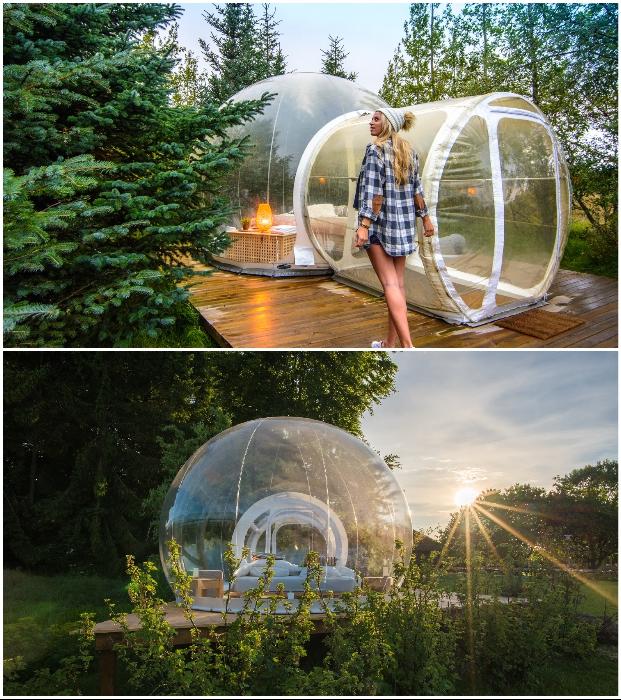 О расположении своего номера гости узнают в последний момент («Bubble Hotel», Исландия). | Фото: doverie-omsk.ru/ portalfinanciero.chedraui.com.mx.