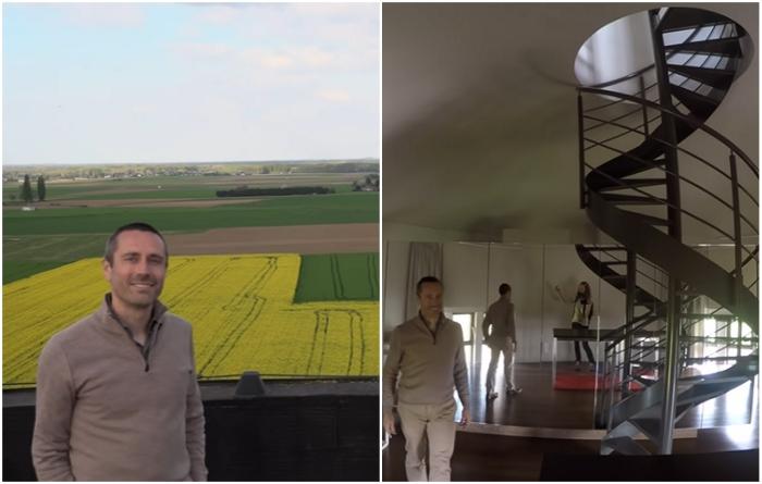 Бельгийский архитектор Патрик Мец потратил более 2 млн дол., чтобы воплотить в жизнь свою мечту («Chateau d'Eau», Steenokkerzeel). | Фото: youtube.com/ © Kirsten Dirksen.