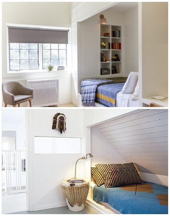Нишу для кровати можно сделать в любом месте комнаты.