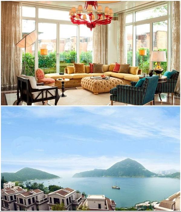 Стильный интерьер и восхитительный вид из открытой террасы на крыше ждет новых владельцев «The villa at 37 Island Road» (Гонконг). | Фото: luxuryproperty.zaobao.com.