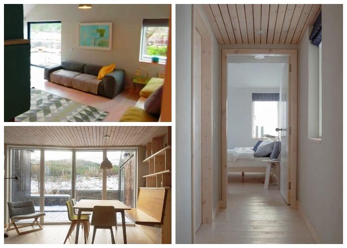 Скромность и простота – основной стиль оформления интерьера жилого комплекса (Lochside House, Великобритания).