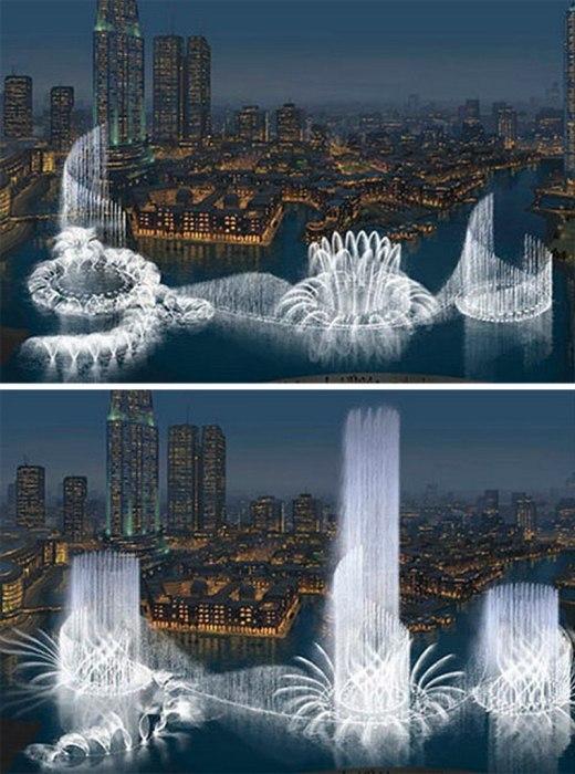 Самый фантастический фонтан Дубаи открылся в 2009 г. и обошелся устроителям 218 млн дол. (ОАЭ). | Фото: ksenia-ksenianikolaeva.blogspot.com.