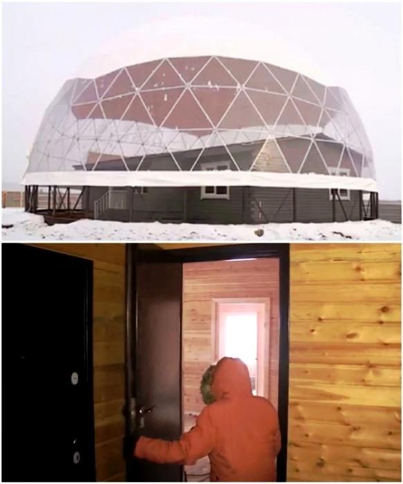 Процесс сборки конструкции уже подошел к концу, ведутся отделочные работы, и устанавливается система «умный дом» (Якутия). | Фото: rg.ru/ канал ОТР.