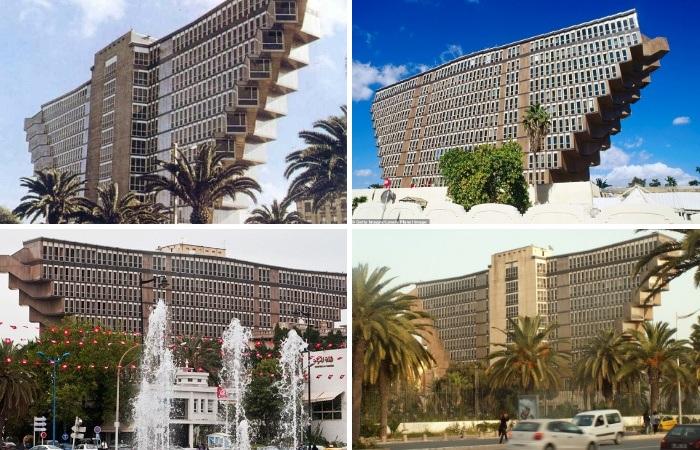 Hotel du Lac - яркий представитель  брутализма и пренебрежения классическими канонами (Тунис). | Фото: cairobserver.com.