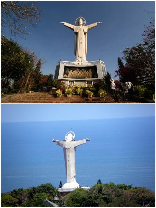 Статуя Иисуса Христа – самая значимая достопримечательность курортного города Вунг Тау (Вьетнам). | Фото: sergmart67.ru/ arrivo.ru.