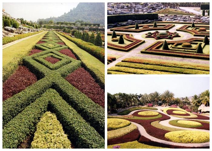 Потрясающие живые композиции украшают территорию тропического сада Nong Nooch Tropical Garden (Таиланд). | Фото: gardener.ru.