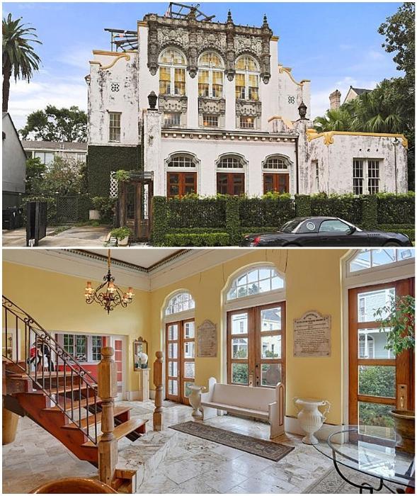 Бывшая пресвитерианская церковь в Новом Орлеане превратилась в роскошную резиденцию и многоквартирный дом (Луизиана, США).
