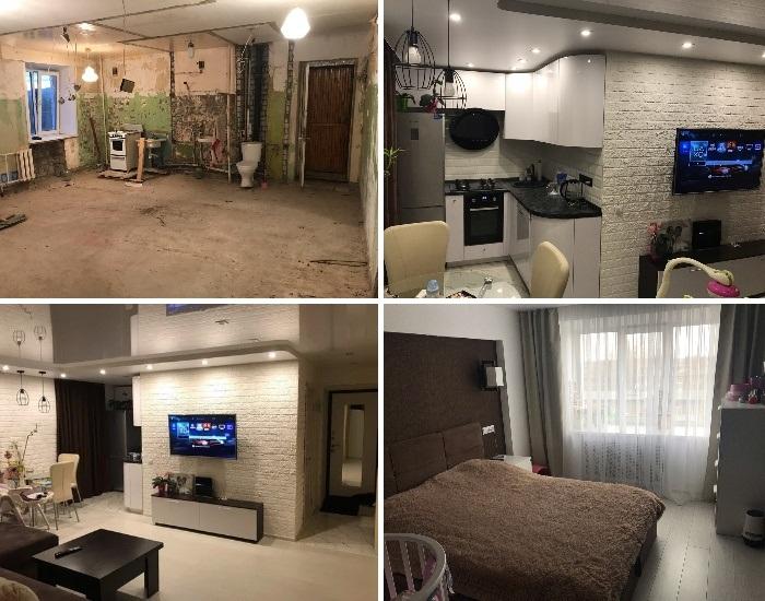 Если захотеть, то и убогую малогабаритную «хрущевку» можно превратить в комфортное и стильное жилье. | Фото: remont-kvartiri.livejournal.com.