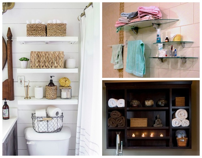 Открыты те полки для ванной могут быть сделаны из различных материалов.