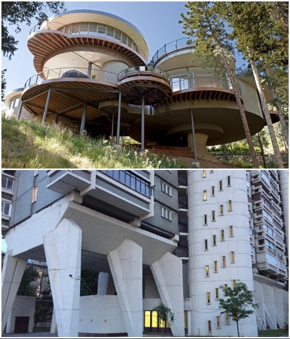 Дом на сваях легко установить и над обрывом или построить его … многоэтажным. | Фото: dompodrobno.ru/ ksoftware.livejournal.com.