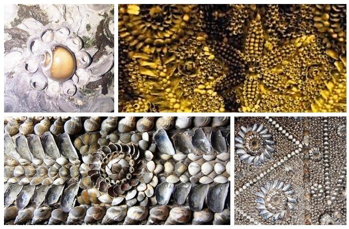 Около 4,6 млн. морских раковин ушло на оформление подземного храма (Margate Shell Grotto).