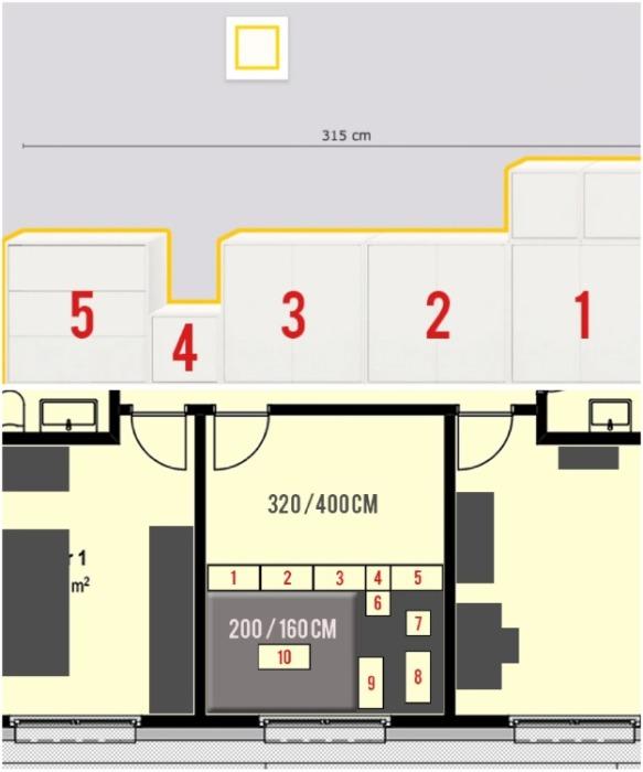 Для создания каркаса приобрели 10 модулей серии Eket производства Ikea. | Фото: youtube.com/ DIY Floyd.