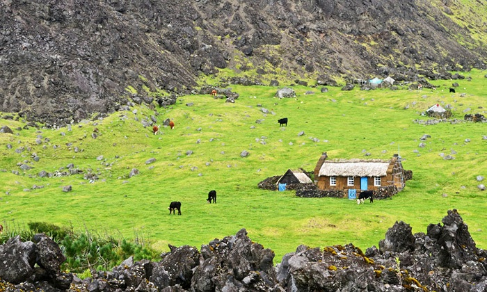 Такие домики разбросаны по самому отдаленному обитаемому острову на планете (Тристан-да-Кунья).