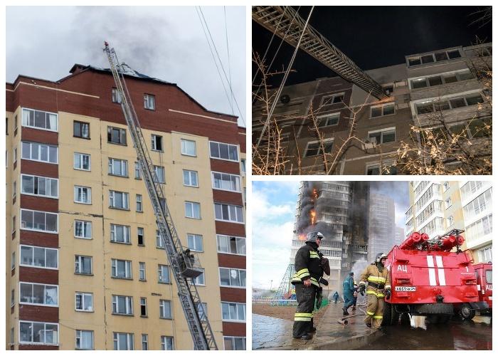 Выше 9-го этажа механизированная пожарная лестница подняться не может.