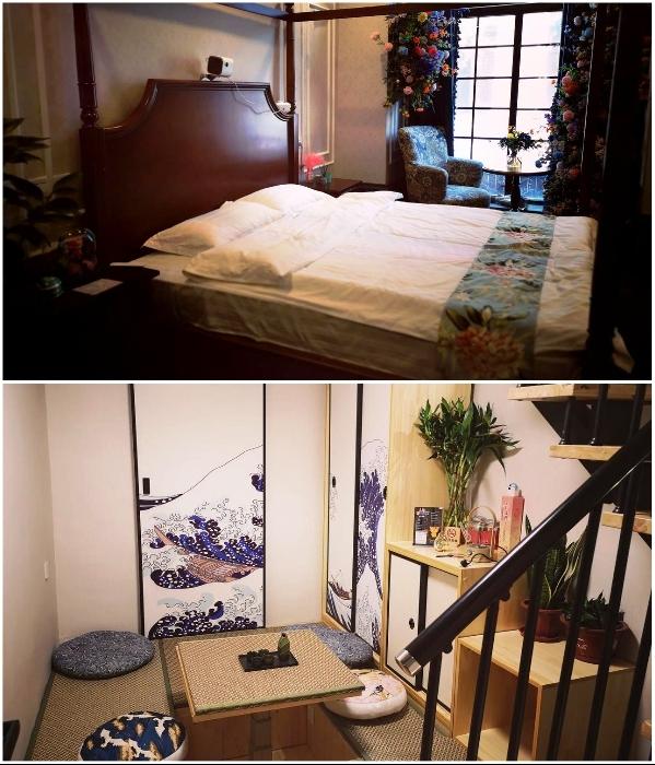 В Китае открылся капсульный отель, номера которого спрятаны за книжными полками