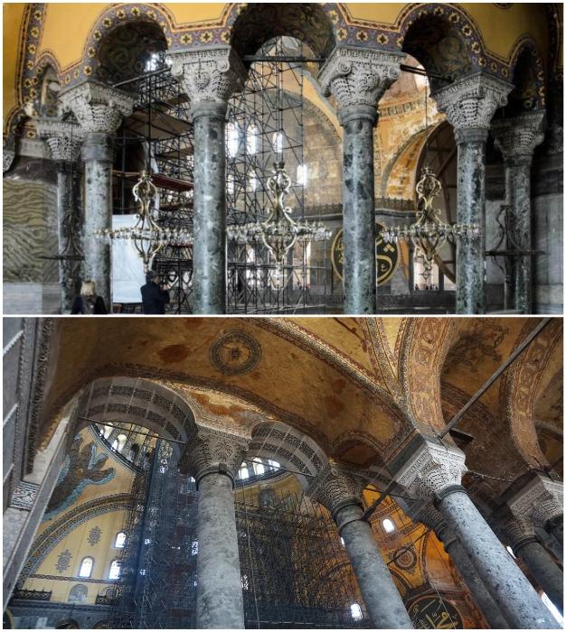Мраморные колонны доставлялись из древних храмов Византийской империи (Собор Святой Софии, Стамбул).