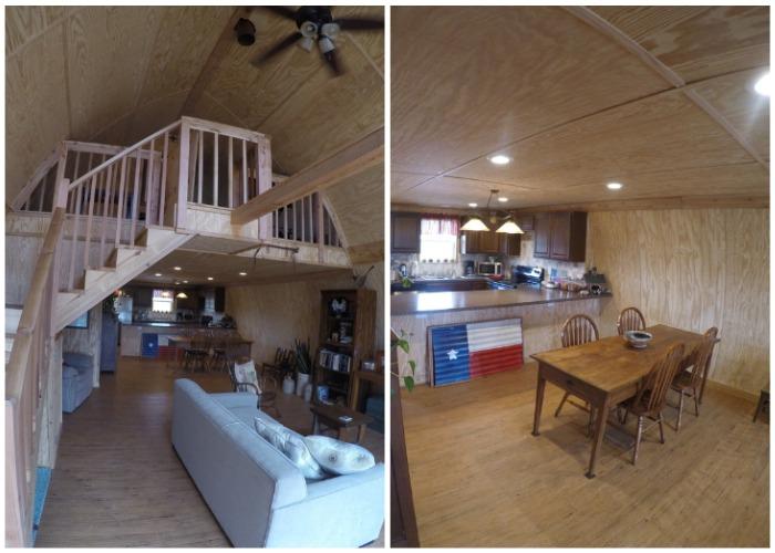 Один из вариантов интерьера мини-домика в светлых тонах.