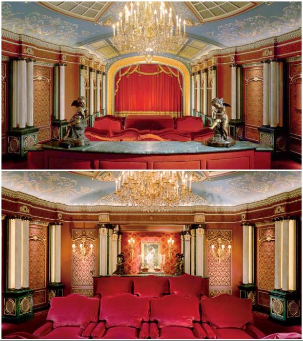 Небольшую комнату дизайнер превратил в роскошный зал в стиле XVIII–XIX вв. (дизайн Тео Каломиракиса, Киев).