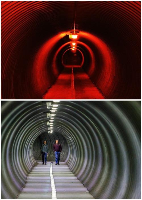 Осталось несколько туннелей, по которым в плохую погоду можно без проблем добраться в порт или к маяку (Уиттиер, Аляска). | Фото: topvoyager.com.