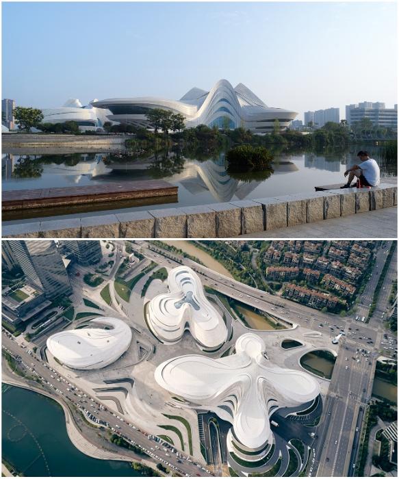 Международный центр культуры и искусства «Мэйсиху» созданный по проекту Zaha Hadid Architects уже сдан в эксплуатацию (Чанши, Китай). | Фото: dezeen.com/  © Virgile Simon Bertrand.