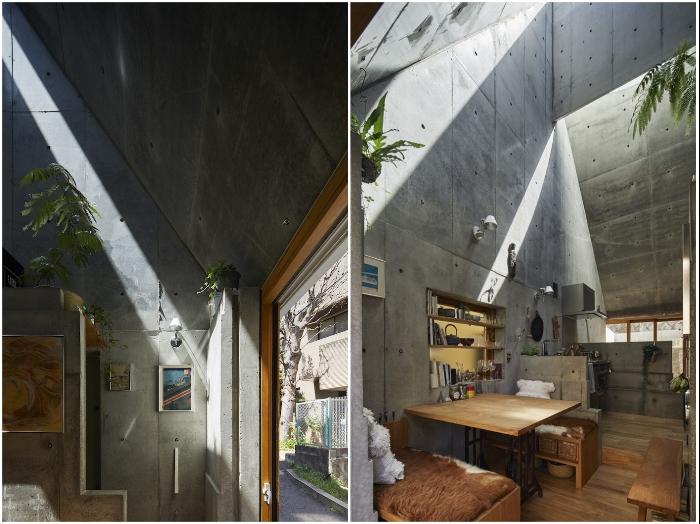 Бетонные стены ничем не стали украшать или отделывать («Love2House», Токио). | Фото: hosakatakeshi.com.