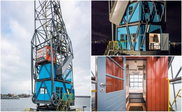 В оформлении интерьера и экстерьера жилых апартаментов Yays Crane преобладает индустриальный стиль (Амстердам, Нидерланды). | Фото: smartertravel.com.