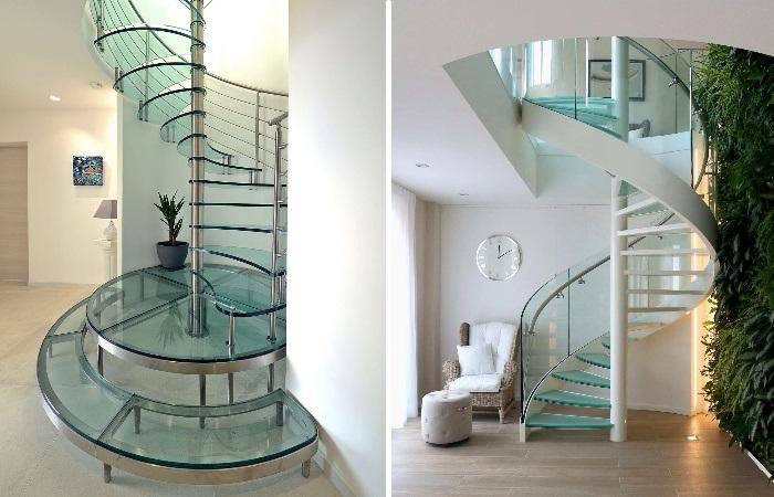Стеклянные лестницы придадут интерьеру особого изящества. | Фото: eleveescaleras.com.ar.