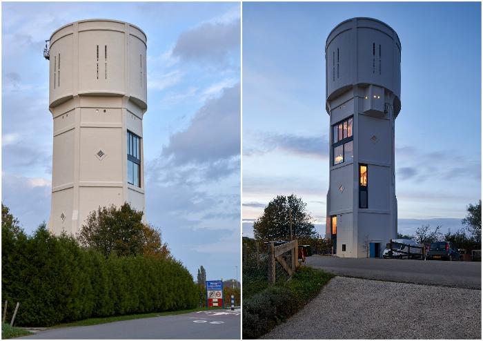 Преображение старой водонапорной башни в современное жилье (Watertower Nieuw Lekkerland, Нидерланды).