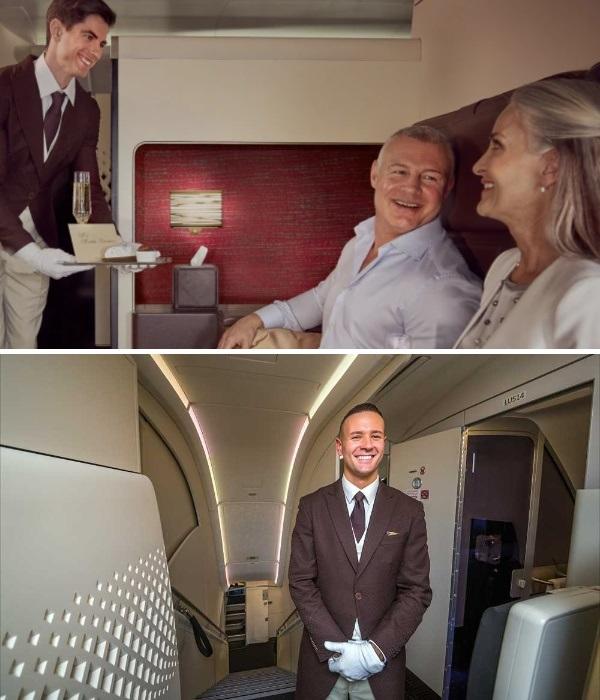 Обеспечивают комфортный перелет пассажирам класса «Резиденция» личные дворецкие, которые прошли обучение в лондонском отеле Савой. | Фото: deadbees.net/ etihad.com.